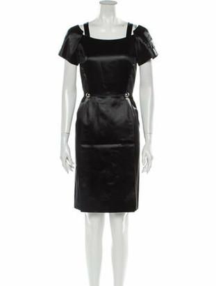 Creatures of the Wind Square Neckline Knee-Length Dress Black