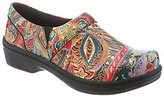 Klogs USA Leather Closed Back Clogs - Mission Print