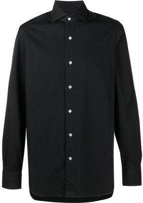 Barba Contrast-Stitch Long Sleeved Shirt
