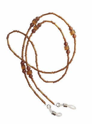 Eyewearstraps NEW Ladies Brown Amber Beaded Eye Glasses Sunglasses Spectacle Chain Strap Holder Cord