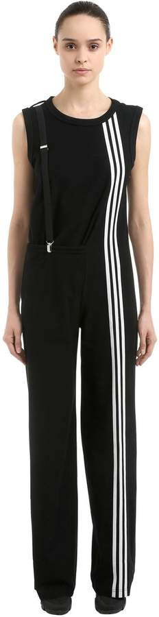 Y-3 3-Stripes Cotton Twill Jumpsuit