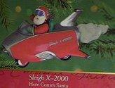Hallmark 2000 Ornament Sleigh X-2000 # 22 Here Comes Santa Series
