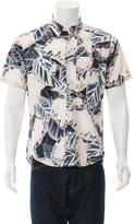 Opening Ceremony Leaf Print Button-Up Shirt