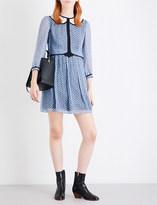 Coach Mini-print silk babydoll dress