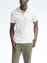 Banana Republic Luxury Touch Dot Print Polo