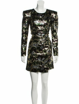 Dundas Camouflage Sequin Dress w/ Tags Green