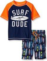 Carter's Little Boys 2 Piece Surf Dude Rash Guard Set
