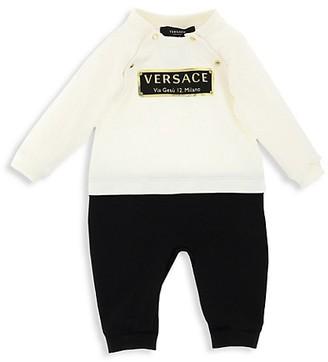 Versace Baby's 2-Piece Logo Sweatshirt & Joggers Set