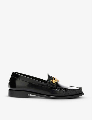 Sandro Joane chain-trimmed leather loafers