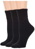 Hue Sleek Trouser Socks 3-Pair Pack (Black/Black/Black) Women's No Show Socks Shoes