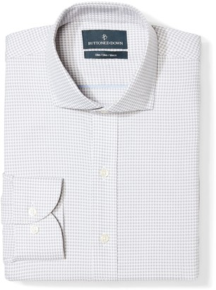 Buttoned Down Men's Slim Fit Cutaway-Collar Pattern Non-Iron Dress Shirt
