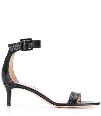 Giuseppe Zanotti Snakeskin Heeled Sandals