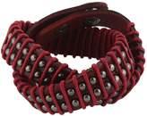 EVER FAITH® Round Decor Rope Genuine Leather Men Wristband Wrap Bracelet Unisex Couple