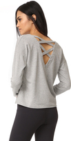 Splendid Varsity Active Lace Back Sweatshirt