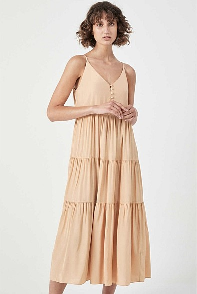 Witchery Tiered Button Front Dress