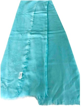 Christian Dior Turquoise Wool Scarves