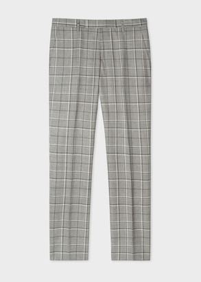 Paul Smith Men's Slim-Fit Grey Prince Of Wales Check Trousers