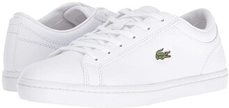 Lacoste Straightset BL 1 (White) Women's Shoes