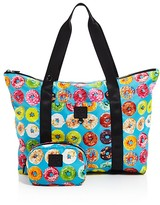 Terez Girls' Donut Print Collapsible Tote Bag