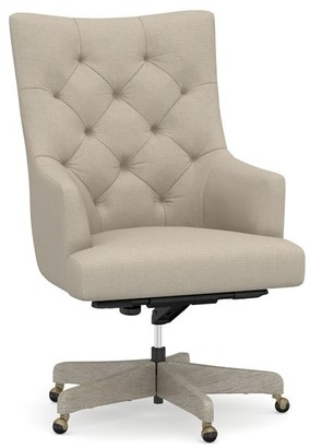 Pottery Barn Radcliffe Tufted Swivel Desk Chair