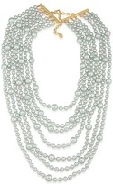 Carolee Beaded Drama Necklace, 15""