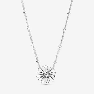 Pandora Pave Daisy Flower Collier Necklace