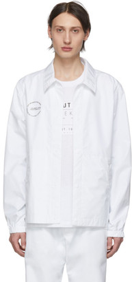 Helmut Lang White Stadium Jacket