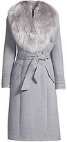 Thumbnail for your product : Sentaler Fur Collar Alpaca-Blend Long Coat