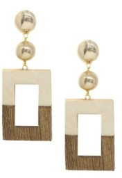 Ettika Wooden Color-Block Drop Earrings