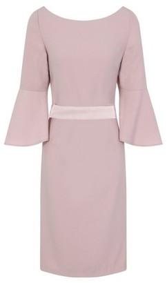 Dorothy Perkins Womens Chi Chi London Pink Bow Back Detail Midi Shift Dress, Pink