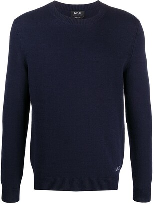 A.P.C. Logo-Embroidered Sweater