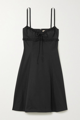 Brock Collection Lace-trimmed Stretch-cotton Dress - Black