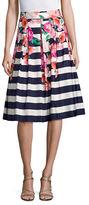Eliza J Floral Strapped Midi Skirt