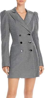 Jill Stuart Checkered Tuxedo Dress