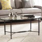 Charlton Home Sherrodsville Metal/Glass Coffee Table