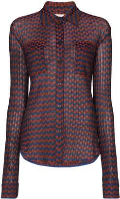 Wales Bonner geometric pattern long-sleeve shirt