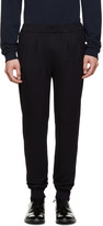 Paul Smith Navy Wool and Silk Trousers