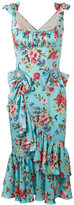Dolce & Gabbana bow floral print dress - women - Silk/Spandex/Elastane - 40