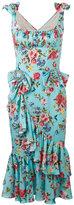 Dolce & Gabbana bow floral print dress - women - Silk/Spandex/Elastane - 42