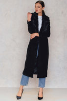 Glamorous Maxi Coat With Faux Collar