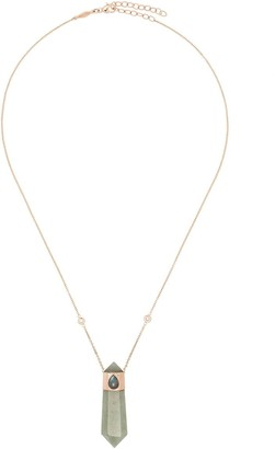 Jacquie Aiche 14kt Rose Gold Crystal Pendant Necklace
