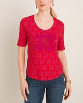 Chico's Chicos Embellished Medallion Tee