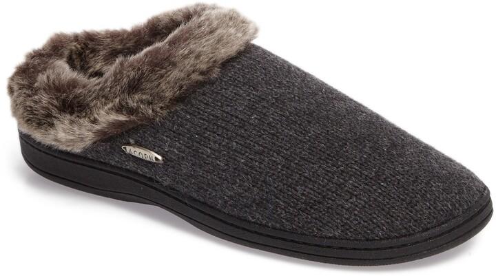 Acorn Chinchilla Faux Fur Slipper