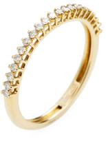 18 Yellow Gold & 0.21 Total Ct. Diamond Band Ring