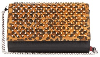 Christian Louboutin Paloma Leopard-print Leather Clutch - Leopard
