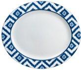 Mikasa Ikat Blue Oval Platter
