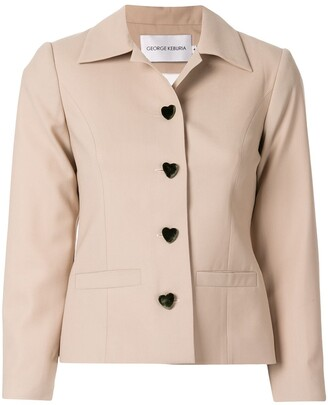 George Keburia Heart Buttons Jacket