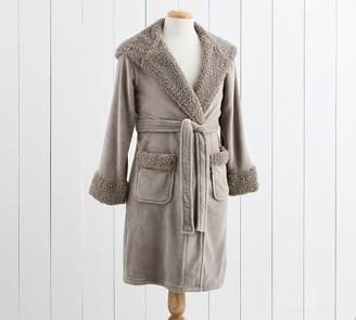 Pottery Barn Teddy Faux Fur Trim Robes