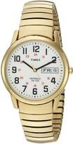 Timex Men's 'Easy Reader' Quartz Brass and Stainless Steel Casual Watch, Color:d (Model: T2N0929J)