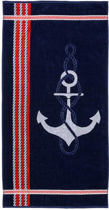 Weaver's Touch Anchor Red Beach Towel